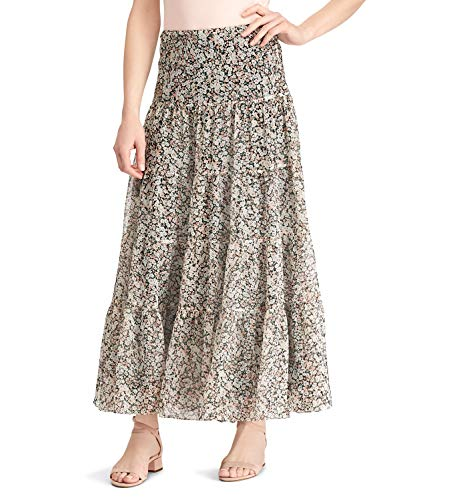 LAUREN RALPH LAUREN Womens Moriah Floral Print Peasant, Boho Skirt Pink S - Ralph Lauren Print Skirt