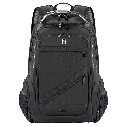 Sosoon Laptop Backpack, Business Anti-Theft Laptop Backpack with USB Charging Port, Water Resistant Large Compartment College School Computer Bag for Men and Women for 15.6 Inch Laptop and Notebook