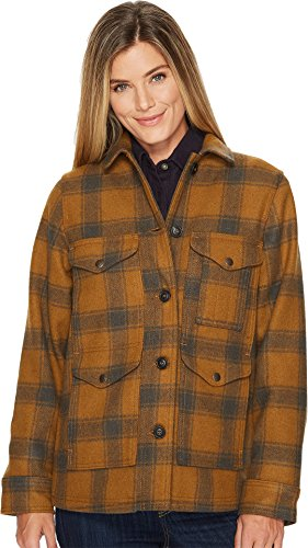 Mackinaw Cruiser Jacket (Filson Women's Lined Seattle Cruiser Jacket Cider/Charcoal Medium)