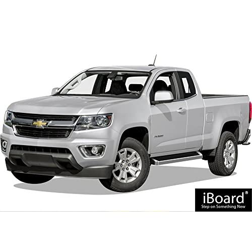 """2015 Chevrolet Colorado Extended Cab Transmission: APS IBoard Running Boards 6"""" Custom Fit 2015-2018 Chevy"""