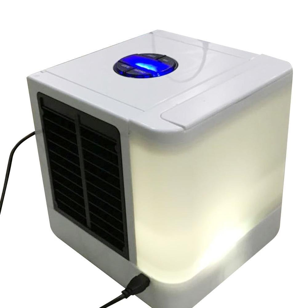 RoseSummer Personal EvaporativeUSB Air Conditioner Portable AirCooler Humidifier with 7 Color LED Lights
