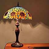 Edward Tiffany 12-Inch warm rustic home study business process design Sunflower glass table lamp