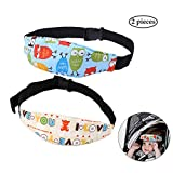 """SYOOY 2Pcs Baby Sleep Head Support Band Adjustable Toddler Safety Stroller Car Seat Sleep Nap Aid Kids Holder Belt 11"""" x 2.75"""" x 32.3"""""""