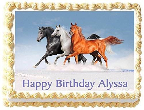Horse - Trio Edible Frosting Sheet Cake Topper - 1/4 ()
