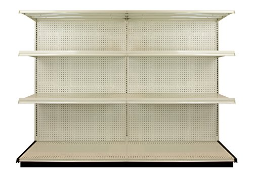 Shelving Gondola (Lozier 8 Foot Heavy Duty Industrial Free Standing Gondola Shelving Unit - 4 Shelf - 4200 Total Capacity)