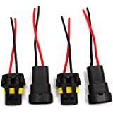 UTSAUTO 2Set 9005 9006 H10 Wire Connectors Female & Male Adapter Wiring Harness Sockets Wire 12V for LED Headlights Fog…