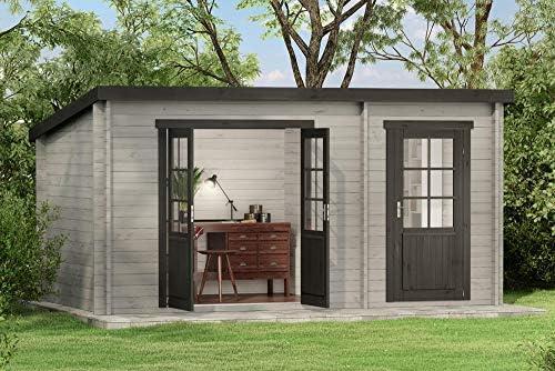Carlsson Alpholz Maria - Casa de jardín de madera maciza con 28 mm ...