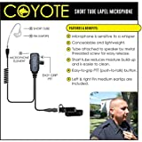 Earphone Connection COYOTE QR Lapel Mic Headset for Vertex Standard VX-537 NYPD