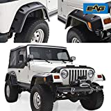 EAG Fender Flares with Mounting Hardware Pocket Style for 97-06 Jeep Wrangler TJ
