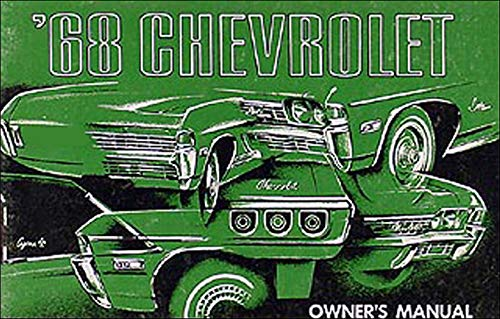 1968 Chevy Owner's Manual Reprint Impala Caprice Bel Air, SS Biscayne