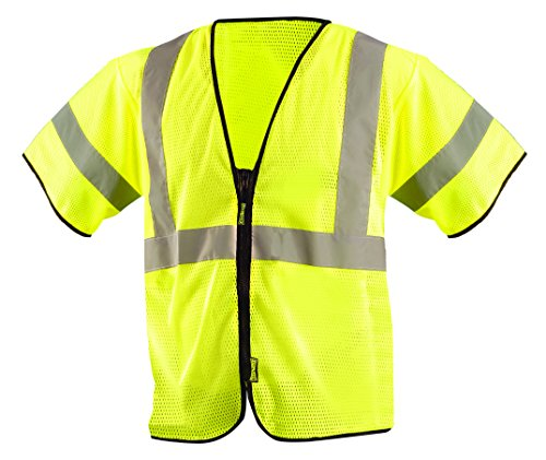 OccuNomix ECO-GCZ3-YS/M Value Mesh Standard Safety Vest, Class 3, ANSI Type R, Yellow, Small/Medium by OccuNomix