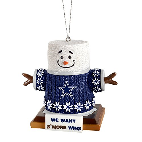 NFL Football Team Logo Smores Holiday Tree Ornament - Pick Team (Dallas Cowboys) (Christmas Tree Collectible Ornaments)