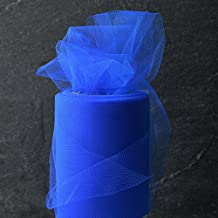 6 Inch x 25-yards Craft Tulle Roll for Wedding Decoration, 1 Roll, Royal Blue, MOR-1365