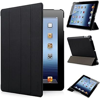 iHarbort® Apple iPad 4/ iPad 3/ iPad 2 Funda - ultra delgado ligero Funda de piel de cuerpo entero Smart Cover Case para Apple iPad 4/ 3/ 2, con la ...