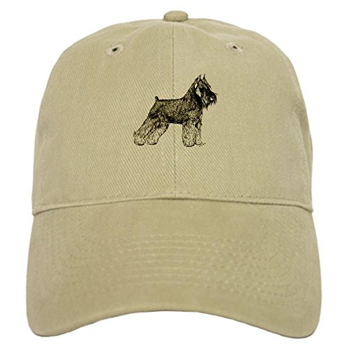 (CafePress - Schnauzer - Baseball Cap with Adjustable Closure, Unique Printed Baseball Hat Khaki)