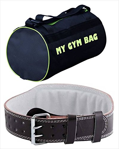 691603bd2d7c Buy Monika Sports Mon 1 Leather Weight Lifting Belt with Gym Bag