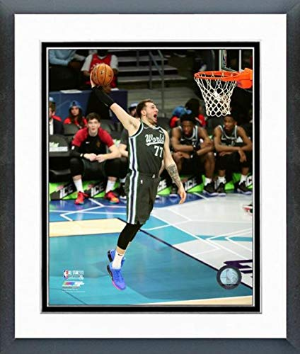 "Luka Doncic Dallas Mavericks 2019 NBA All Star Game Action Photo (Size: 12.5"" x 15.5"" Framed)"