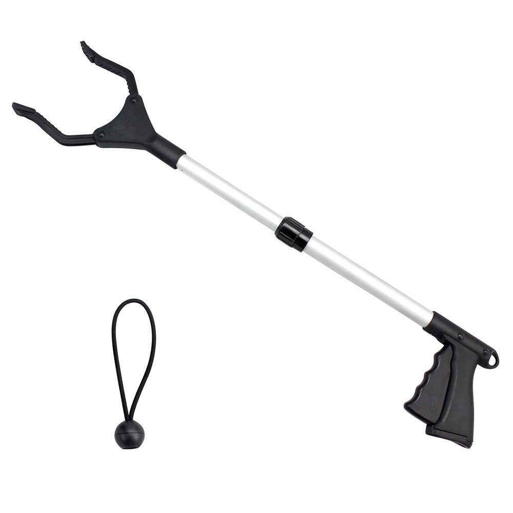 BeGrit Reacher Grabber Pick Up Tool Lightweight Trash Claw Reaching Assist Tool Garden Nabber Litter Picker Arm Extension 20-26''