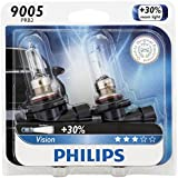 Philips 9005 Vision Upgrade Headlight Bulb, 2 Pack