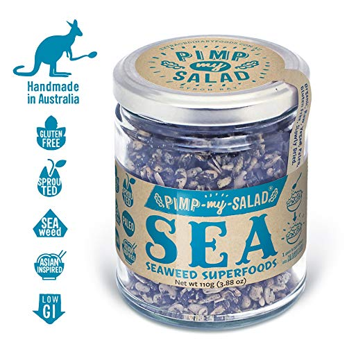 PIMP MY SALAD Vegan Seaweed Sprouted Sunflower Seeds   Keto, Gluten Free, Paleo, Dairy Free   Crunchy Meal & Salad Toppers Made with Whole Food Ingredients   Sea Superfoods   Eco Jar   3.88 oz