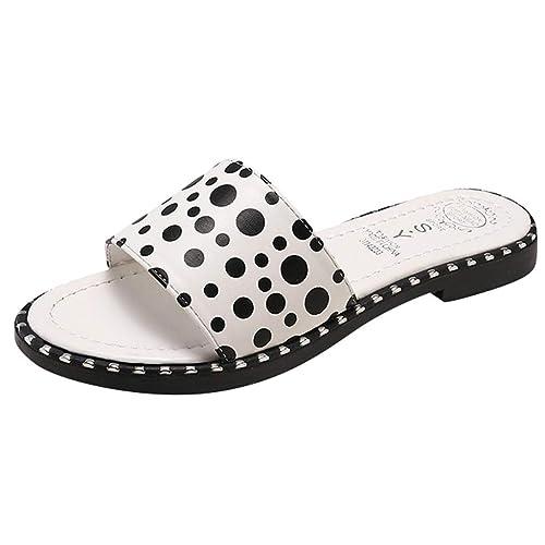 ca96cc4ba1f8c Amazon.com | Severkill Women's Slide Sandal Polka Dot Flip Flops ...