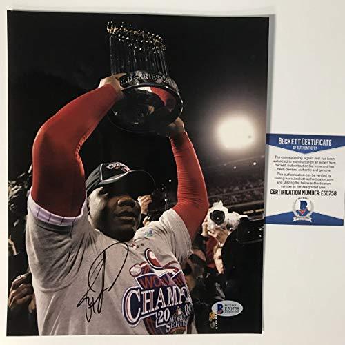 (Autographed/Signed Ryan Howard Philadelphia Phillies 2008 World Series 8x10 Baseball Photo Beckett BAS COA )