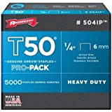 Arrow Fastener 504IP Genuine T50 1/4-Inch Staples, 5,000-Pack