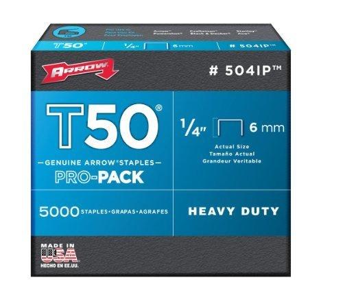 Arrow Fastener 504IP Genuine T50 1/4-Inch