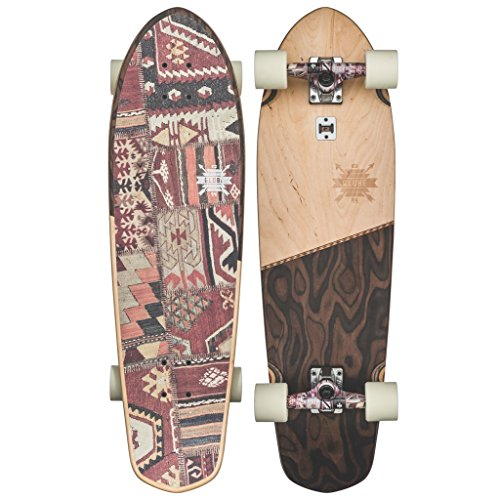 - GLOBE Skateboards Big Blazer Cruiser Complete Skateboard, Natural/Burle, 32