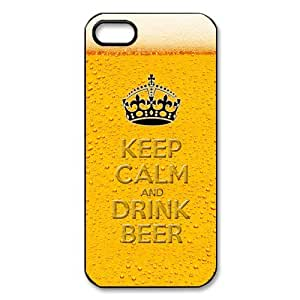 Personalized Gold Mug Alcohol Beverage Beer Cold Drink Cup iPhone 5 Case Beer iPhone 5 Cover Plastic