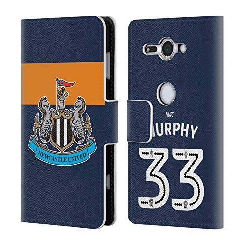 Murphy Compact Wallet - Official Newcastle United FC NUFC Murphy 2016/17 Players Away Kit 2 Leather Book Wallet Case Cover for Sony Xperia XZ2 Compact