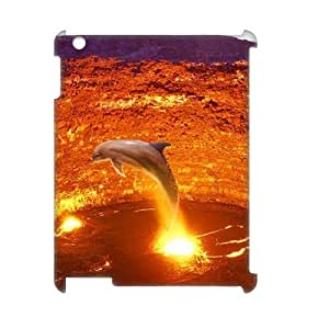ALICASE Diy Cover Custom Case Dolphin For IPad 2,3,4 [Pattern-1]