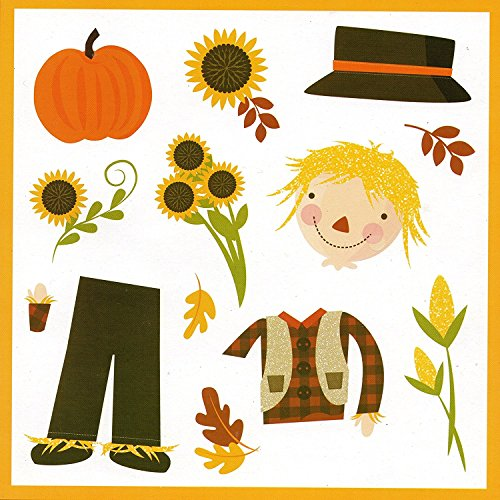 - Fall Scarecrow, Sunflowers, Pumpkin Refrigerator Magnets, Set of 13