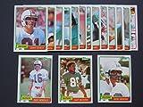 Miami Dolphins 1981 Topps Football Team Set
