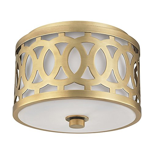 Hudson Valley Lighting 4310-AGB One Light Flush Mount from The Genesee Collection, 1, Aged ()