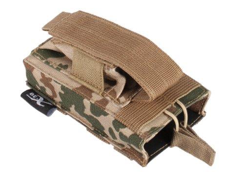 BE-X Kombi-Magazintasche für CQB, MOLLE, für je 1 M4/M16 u. Pistolen Magazin - BW tropentarn
