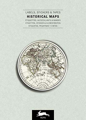 (Historical Maps Label & Sticker Book (English, Spanish, French and German Edition))