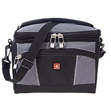 Skross Lightweight Insulated Zipper Lunch Bag with Detachable Strap Grey