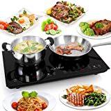 NutriChef PKSTIND48 Dual Electric Induction Cooker Cooktop Cooktop-120V Portable Digital Countertop...