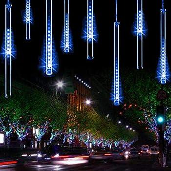 ysim meteor shower rain lightstwinkling romantic lights for party wedding christmas etc118inch 8 tubes blue