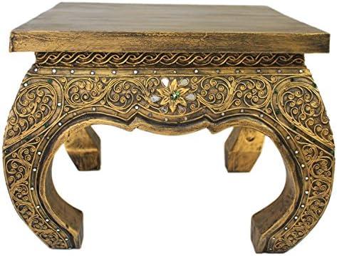 Opium mesa auxiliar mesa mesa 50 x 50 cm Tailandia mesa madera ...