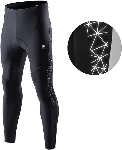 Winter Black Color Mens Cycling Bib Pants Thermal Fleece Padded Cycling pant