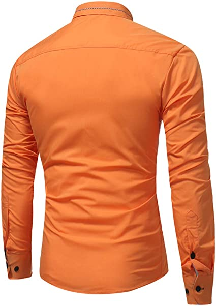 Camisa de hombre elegante corte ajustado Slim-Fit elástico ...