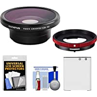 Olympus FCON-T01 Fisheye Converter Lens for Tough TG-3, TG-4 & TG-5 Waterproof Digital Camera with CLA-T01 Conversion Adapter + Li-90B Battery Kit