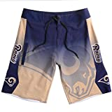 FOCO KLEW NFL St. Louis Rams Gradient Board Shorts, Small, Blue