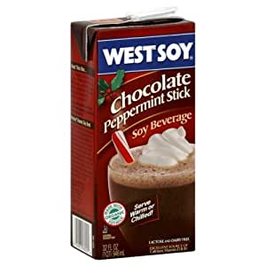 Westsoy Chocolate Peppermint Stick Soy Beverage, 32 oz. Aseptic Package
