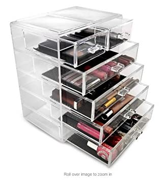 Amazoncom KA Company Makeup Storage Case Jewelry Cosmetic