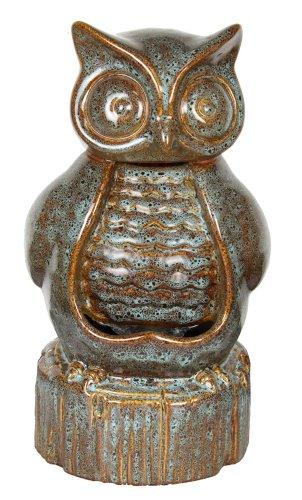 Garden Accents by Beckett Ceramic Owl Fountain by Garden Accents by Beckett