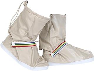 Broadroot Housse de pluie pour chaussures Portable étanche à chaussures couvertures (Lait Blanc)