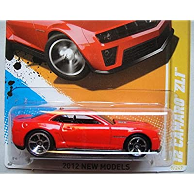 HOT WHEELS 2012 NEW MODELS, RED '12 CAMARO ZL1 9/50: Toys & Games